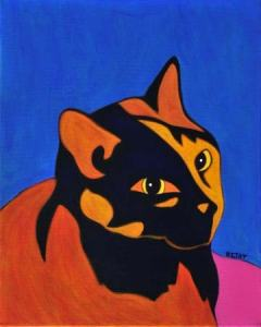 Orange-tortoise-shell-cat-pop-art-painting-bztat-LR
