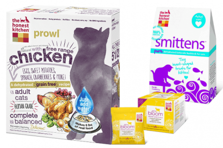 giveaway cat food and treats from the honest kitchen