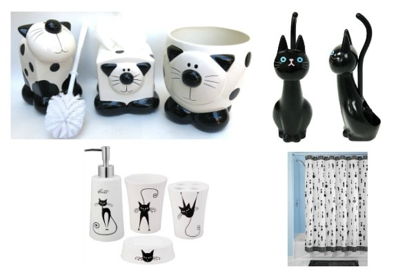 Beautiful cat bathroom accessories