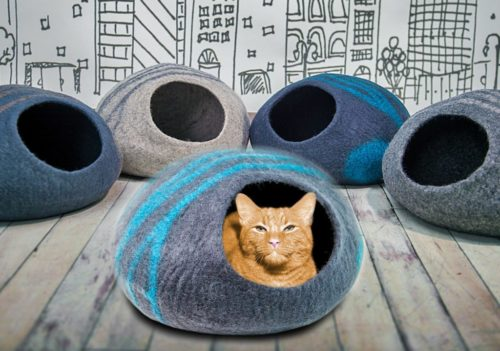 felted-wool-cat-cave