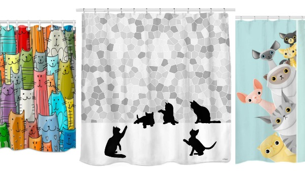 cat shower curtains - Cat Curtains