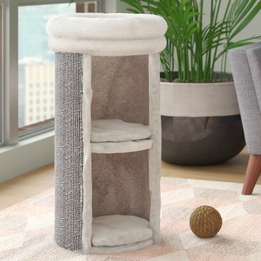 2-story-cat-condo-scratching-post