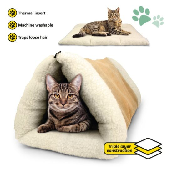cat-igloo-tunnel-mat-bed