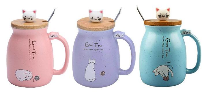 ceramic cat mugs