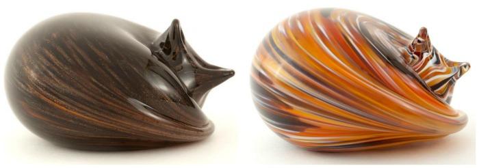 tortoiseshell-cat-glass-sculptures