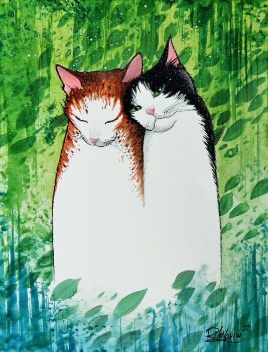 raphael-vavasseur-cat-painting