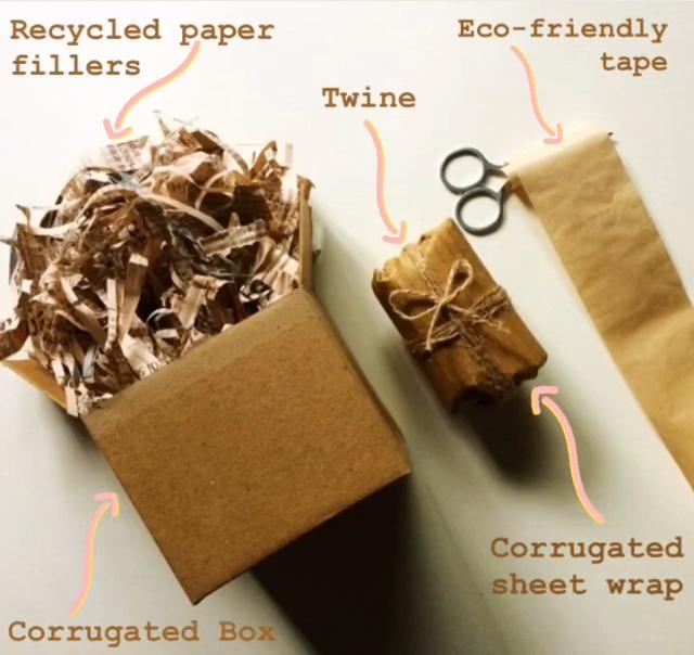 Sustainable packaging by brand vishisht