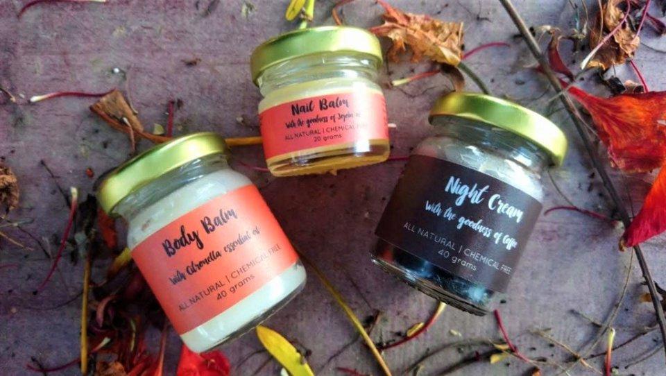 Sustainable skincare products by brand Vishisht