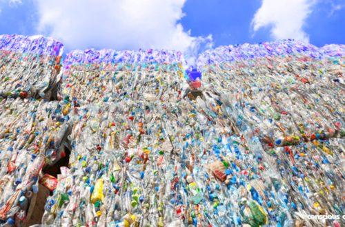 Plastic waste problem. Plastic mountain