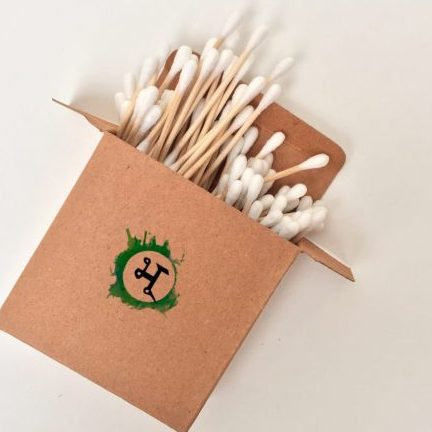 bamboo plastic-free earbuds by bhu eco store