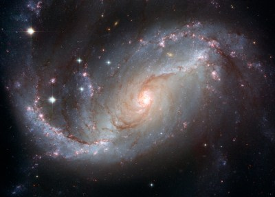 Hubble's View of Barred Spiral Galaxy NGC 1672