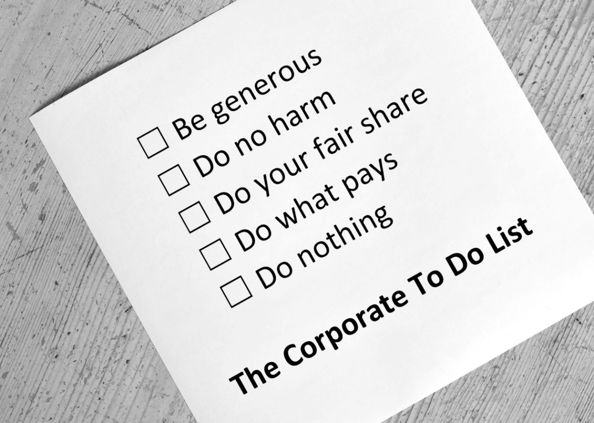 The corporate to-do list. Image by Kate Raworth.