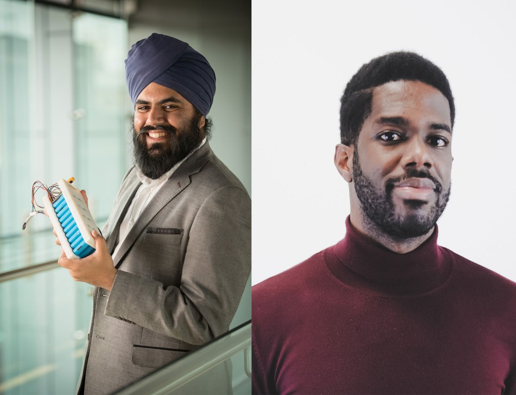 Amrit Chandan, Carlton Cummins, co-founders of Aceleron Ltd, cleaner, more renewable energy usage by creating storage technology that is more accessible by all.