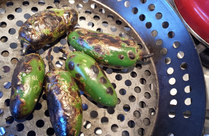 A Tale of Roasted Peppers in a Perforated Pan
