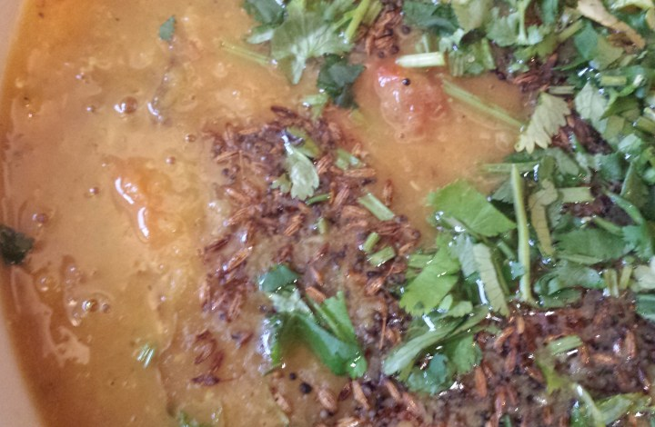Rainy Day Dal – Masoor Dal with Potatoes & Carrots