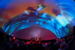 """Ultra Immersion"" 360 concert with Steve Roach and Audri Phillips in The Vortex Dome"