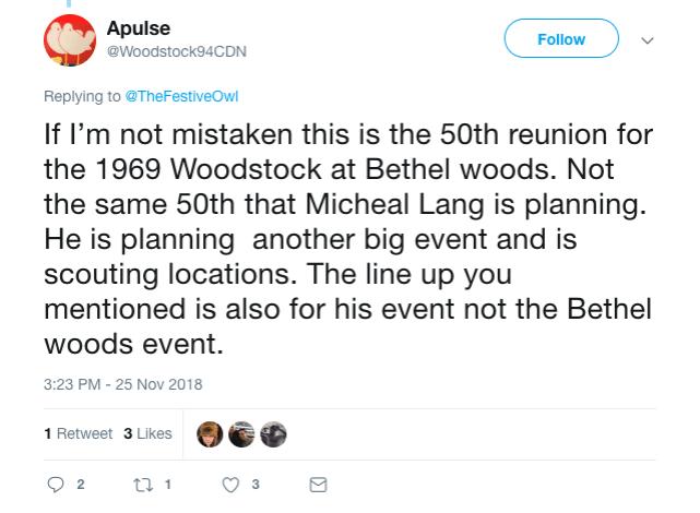 woodstock tweet