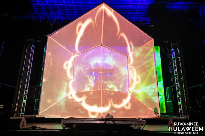 Flying Lotus plays 3D set Suwannee Hulaween