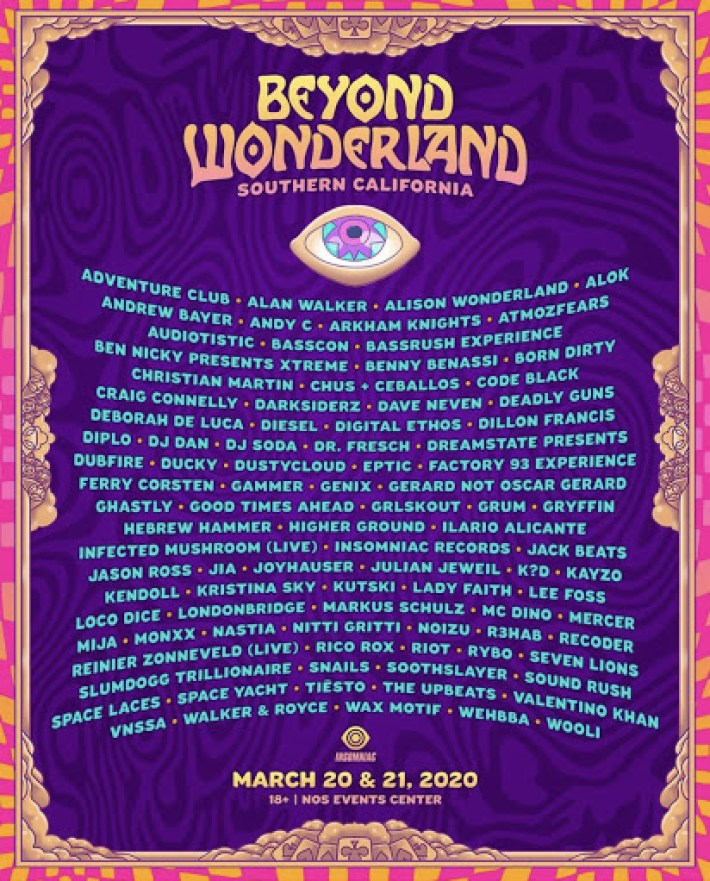 beyond-wonderland-2020-conscious-electronic-lineups