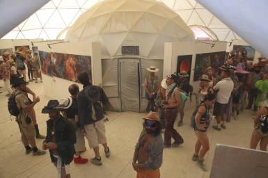 burners walk through android jones' samskara immersive art exhibit