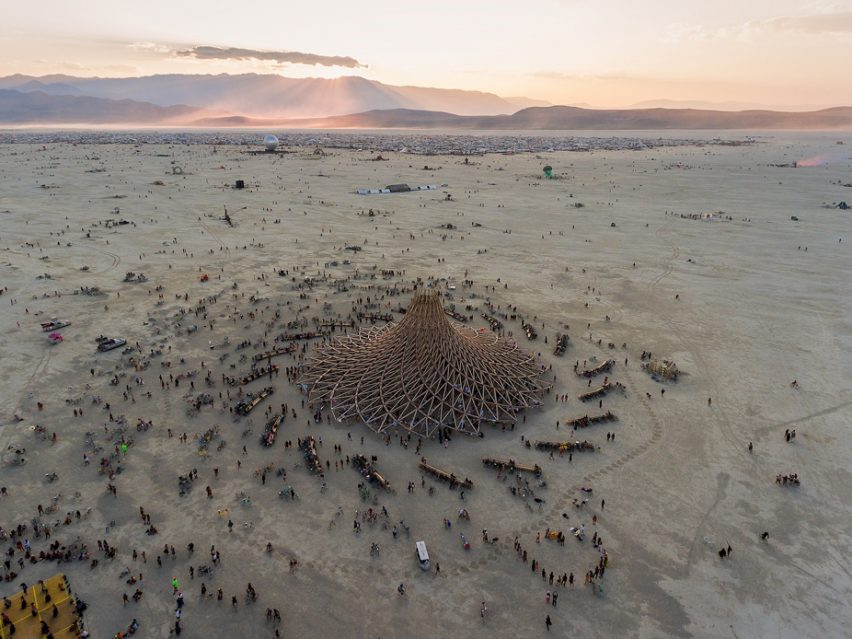 burning man 2018 aerial drone shot