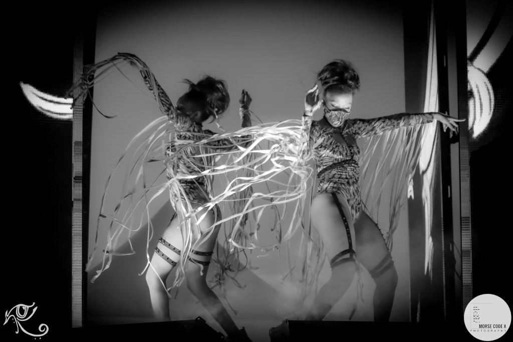 Gogo dancers at Ubbi Dubbi 2021