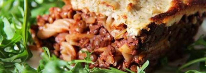Vegan Gluten-free Lentil Lasagna with Cashew Cream Sauce