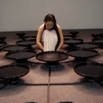 Artist Manipulates 48 Pools Of Water With Her Mind