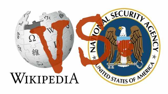 The ACLU has filed a lawsuit, on behalf of Wikipedia and other organizations, challenging the constitutionality of the NSA's mass interception and searching of Americans' international communications. (Image: Available logos/with overlay)