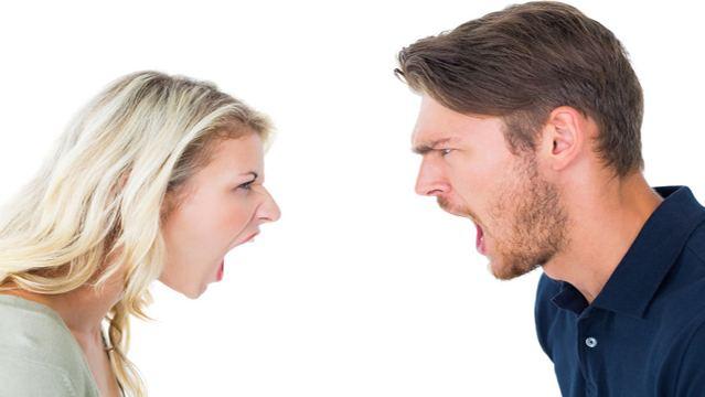 Couple-shouting
