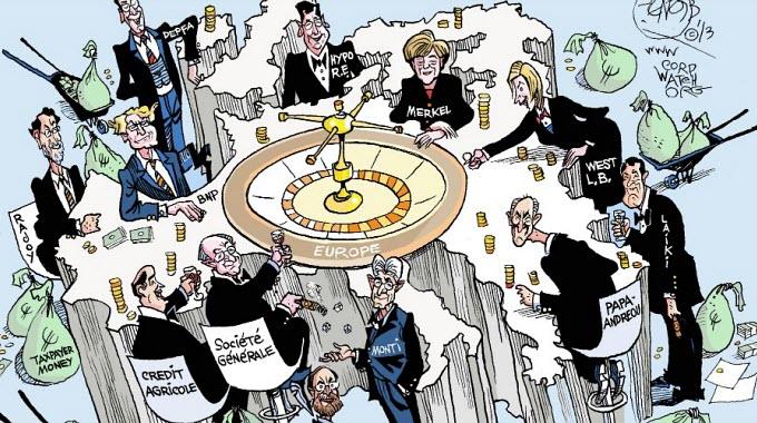 (Cartoon: CorpWatch / by Khalil Bendib)