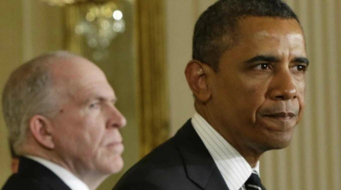 In April, U.S. President Barack Obama, pictured with director of the CIA John Brennan, publicly apologized for the killing of two western hostages. (Photo: file)
