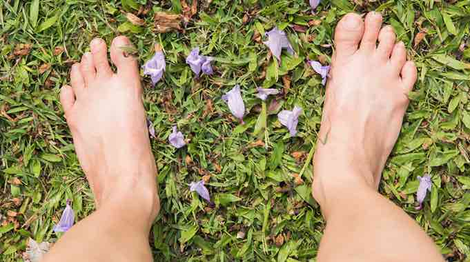 bare feet earthing comp