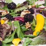 Light & Delicious Mango Walnut Spinach Salad (Recipe)