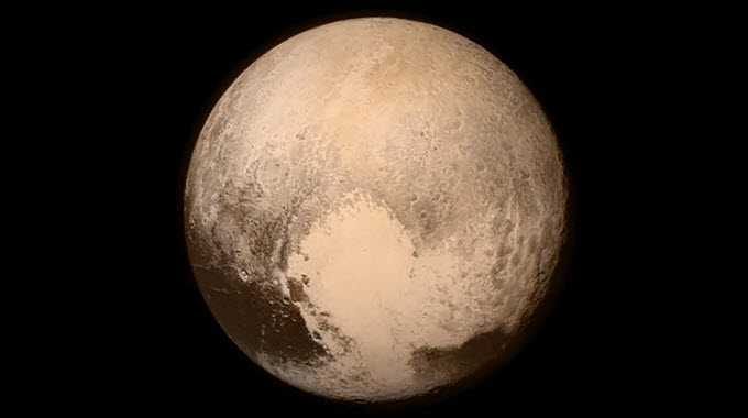 One of the final images taken before New Horizons made its closest approach to Pluto on 14 July 2015. Image Credit: NASA/Johns Hopkins University Applied Physics Laboratory/Southwest Research Institute