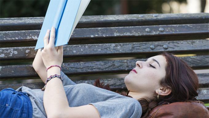 woman reads