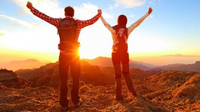 man and woman celebrating life