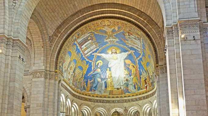 sacre coeur ceiling