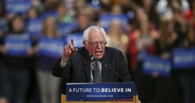 Bernie Sanders spoke to an exhibition hall packed with supporters Tuesday night in St. Paul. (Photo: Jeff Wheeler/Star Tribune)