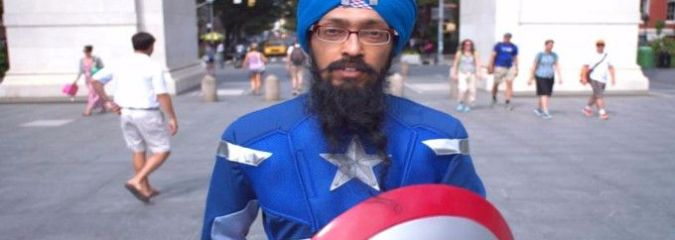 "This Sikh Man Dresses Up As Captain America ""To Fight Intolerance"""