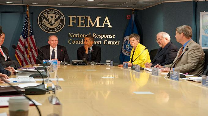 Barack Obama at the FEMA public domain-compressed