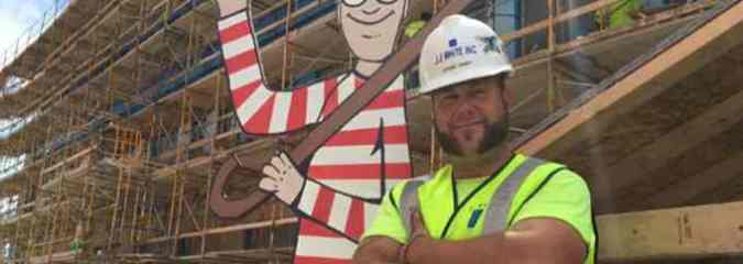 Construction Worker Creates Life-Size 'Where's Waldo' for Children in Hospital