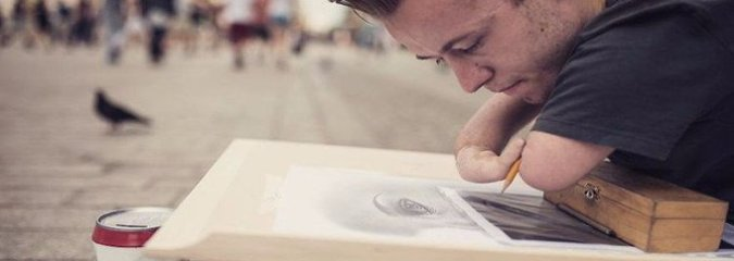 This Artist Doesn't Need Hands To Create Mind-Blowing Masterpieces [Watch]