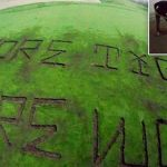 Environmental Activists Carve Big Message Into Trump's California Golf Course