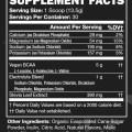 Vegan BCAA Supplement Nutrition Information