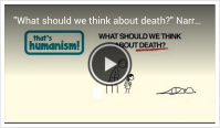 """What should we think about death?"" Narrated by Stephen Fry – That's Humanism!"