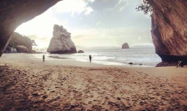 This is Cathedral Cove where they filmed Prince Caspian a few years ago.