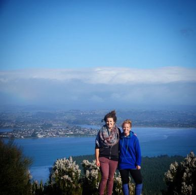 Top of Mount Maunguanui in Tauranga, NZ