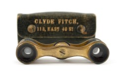 Opera glasses and case belonging to Clyde Fitch, Class of 1886