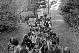 Students protesting following the spring 1978 Trustee meeting